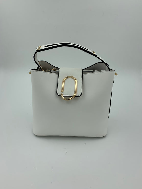 White Over The Shoulder Bag