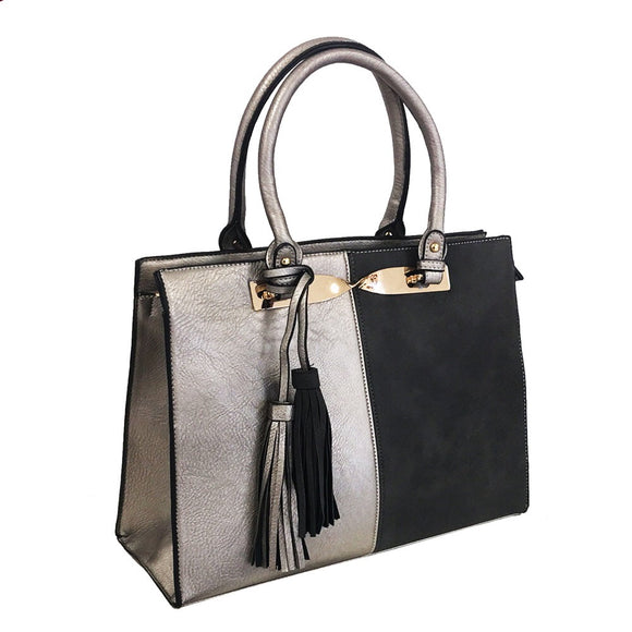 Metallic Grey Handbag