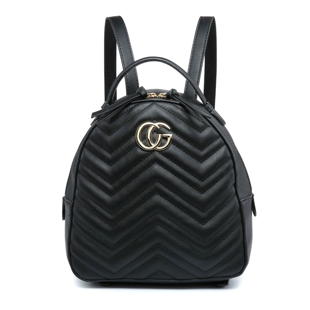 Black Gucci Style Backpack