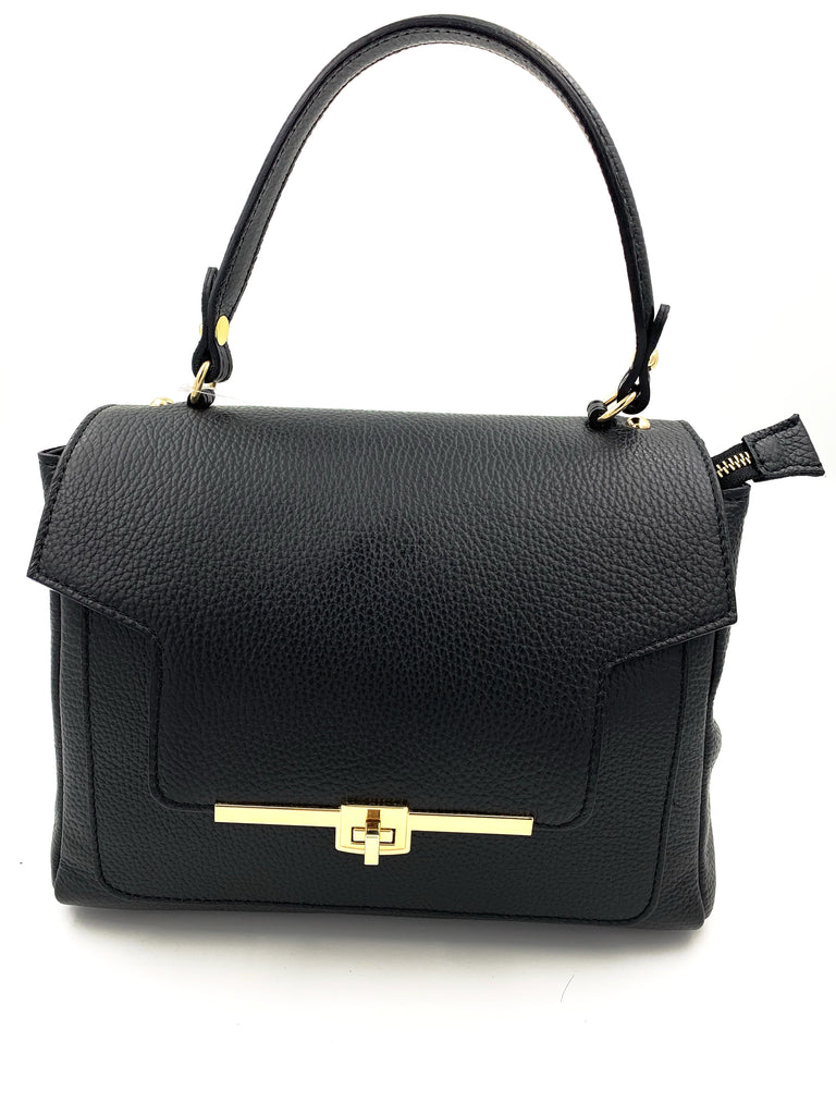 Black Real Leather Handbag