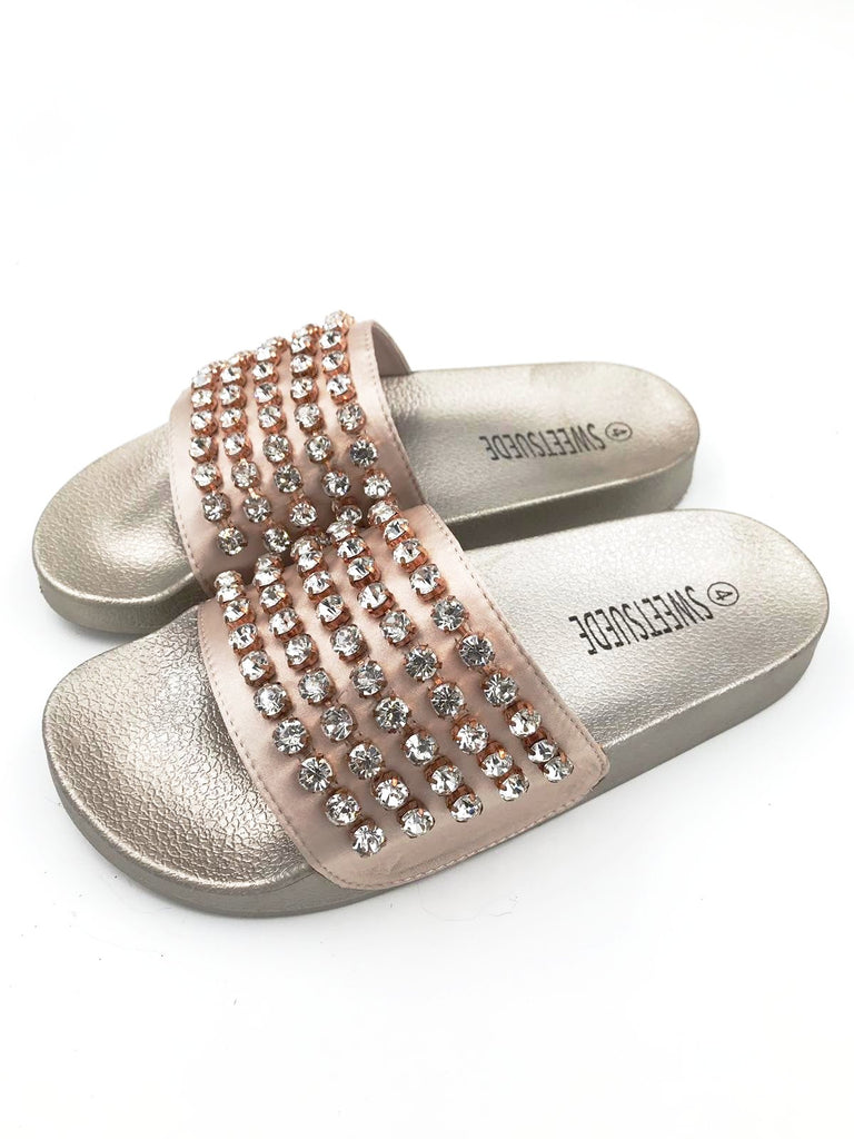 Rose Gold Diamond Sliders