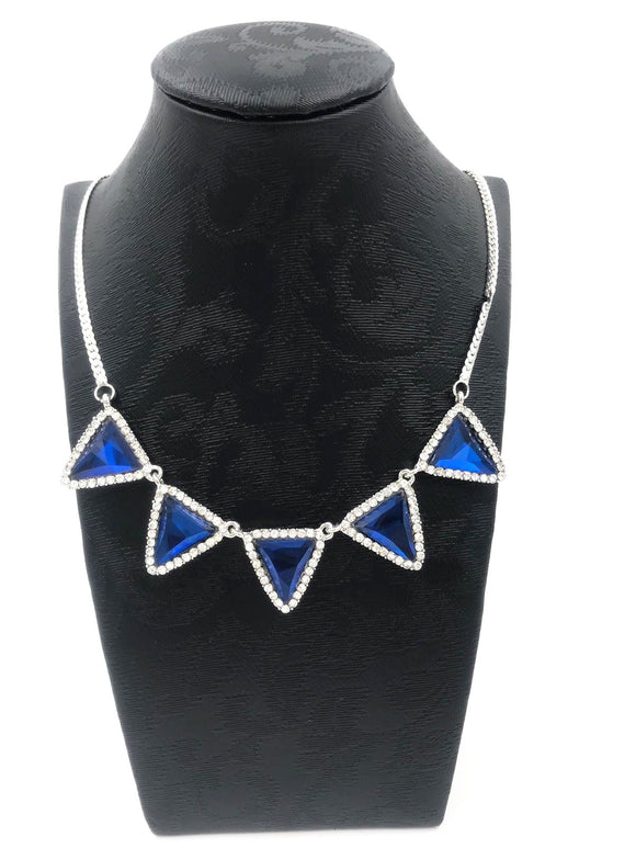 Royal Blue Diamond Necklace