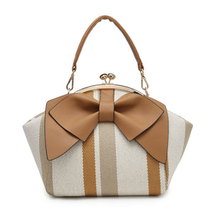 Camel Bow Clutch Bag