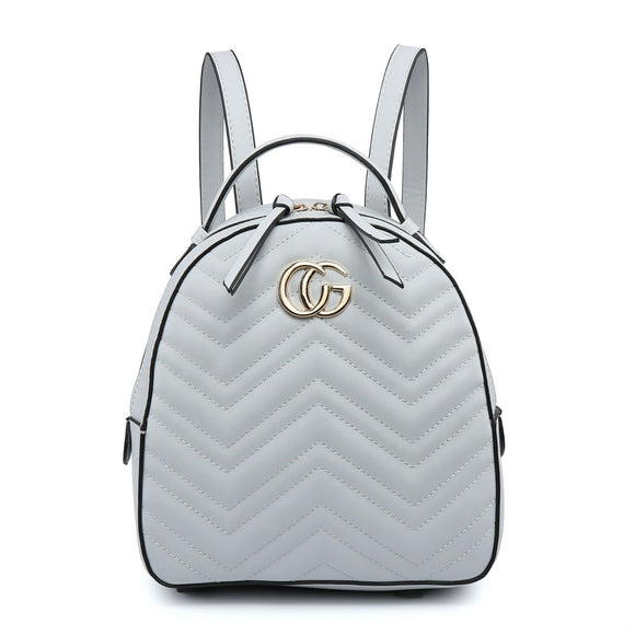 Grey Gucci Style Backpack