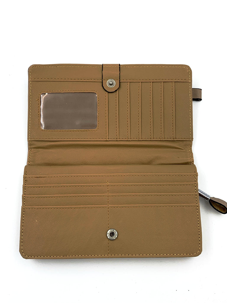 Beige Leather Purse
