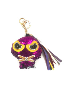 Pink Sequinned Keyring