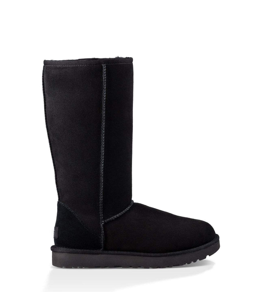 Black Fur Ugg Style Tall Boots
