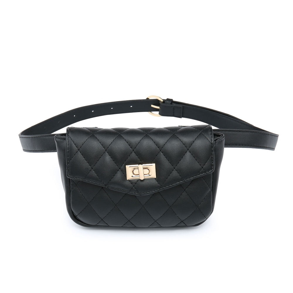Black Quilted Bumbag