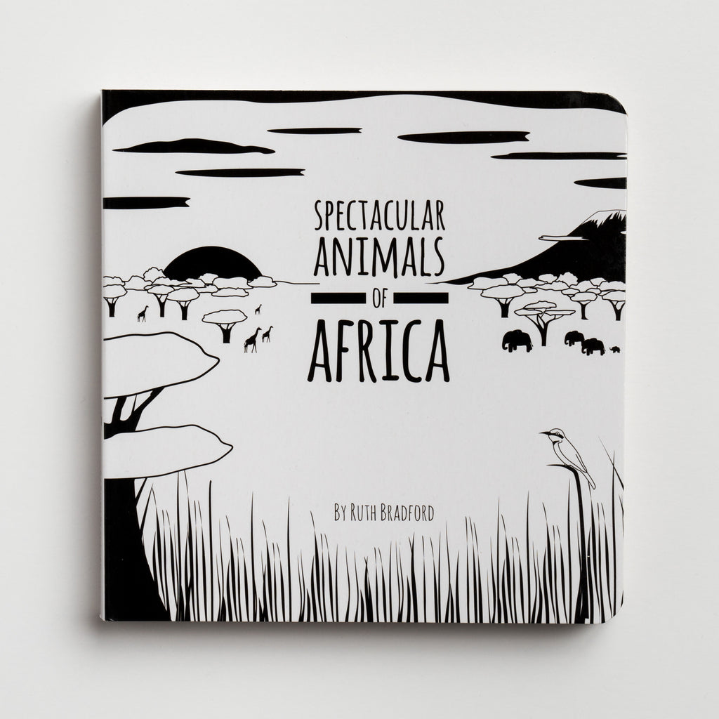 black and white book, animals, visual contrast, baby shower gift, new mum