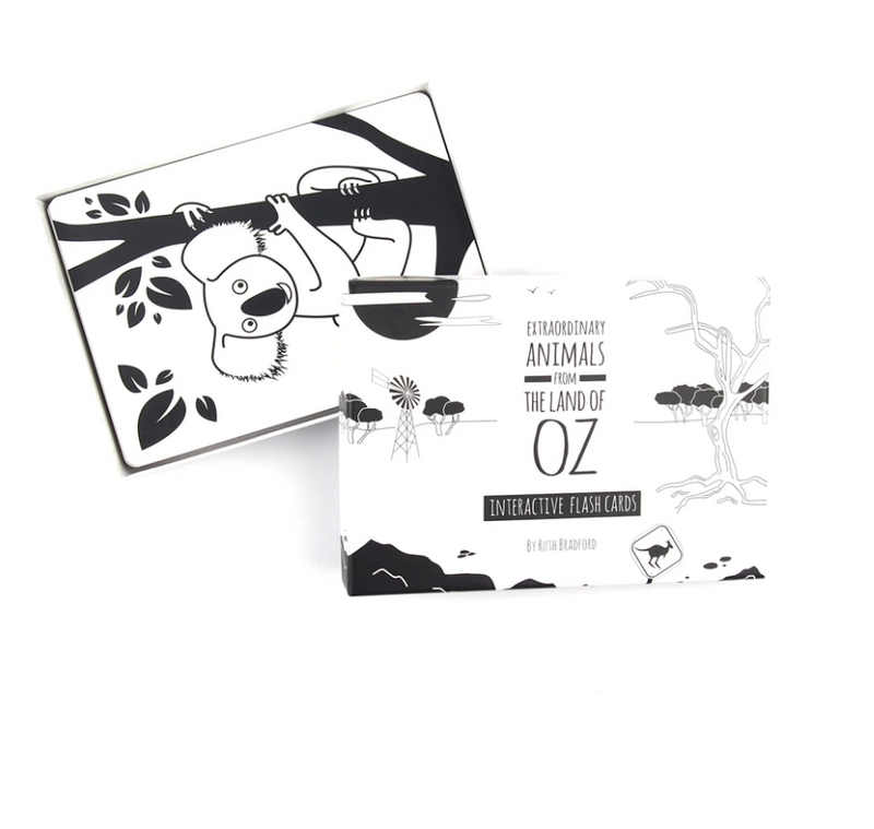 Little Black and White Book Project - Flash Cards - Extraordinary Animals from the land of OZ