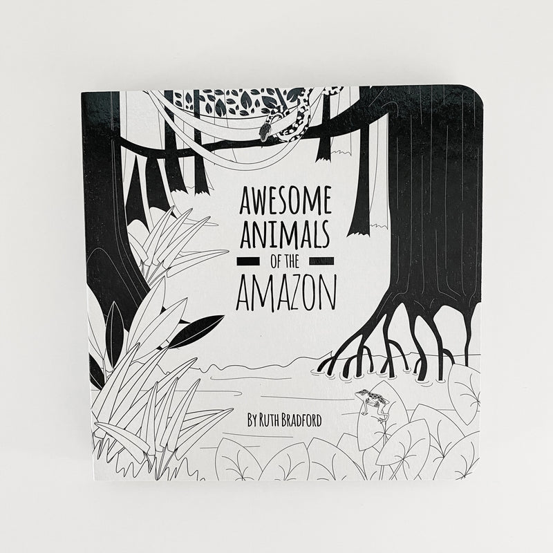 Little Black and White Book Project - Awesome Animals of the Amazon