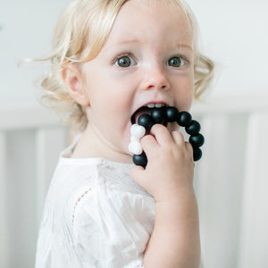 Silicone Teether - Bow (Black)