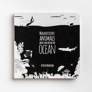 black and white baby book, the ocean, fish, baby gift, baby gift, new mum gift, baby shower