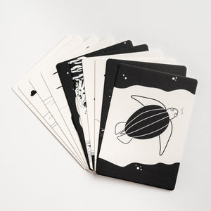 black and white baby flash cards, the ocean, fish, baby gift, baby gift, new mum gift, baby shower