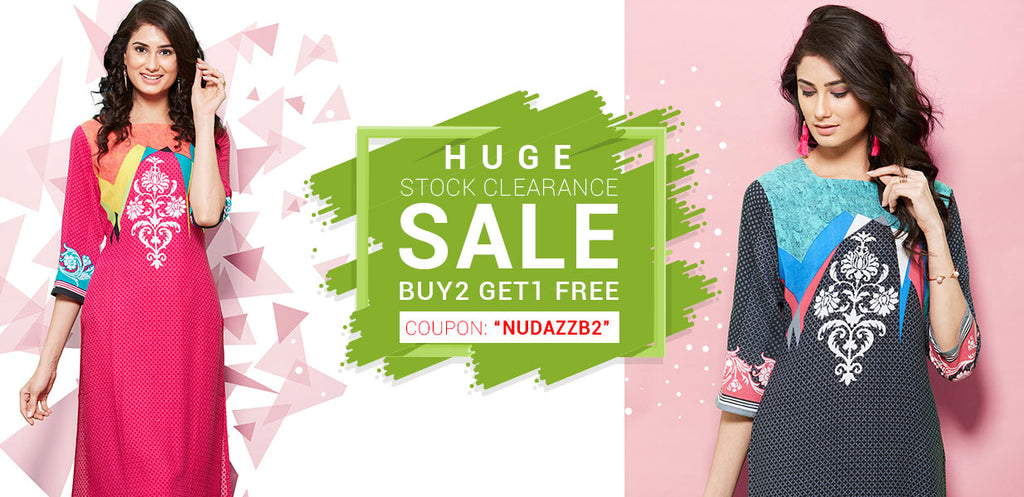 Buy 2 Kurti Get 1 Kurti Free Offer