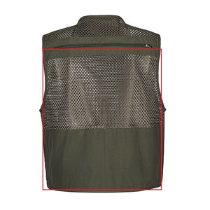 Men's Summer Sleeveless Mesh Waistcoat Tactical Work Vest Jacket by Firld Lived