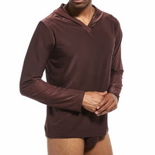 Load image into Gallery viewer, Men's Silky Hooded Pajama Underwear and Sleepwear