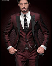 Load image into Gallery viewer, Latest for 2019/2012 Men's Coat/Pants Wedding/Prom Slim Fit 3 Piece Suit by VEIAI