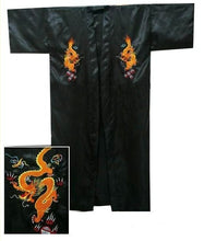 Load image into Gallery viewer, SIZZLE Into Spring & Summer With This Men's Dragon Embroidered Chinese Satin Kimono Bath Robe by Shallow L-o-v-e (Sizes S-XXXL)