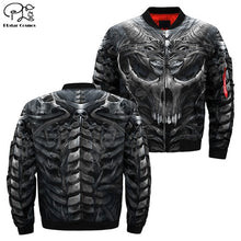 Load image into Gallery viewer, Men's 3d Bomber Skull Head Print Zipper Casual Flight Jacket Casual by PLstar Cosmos NO.2