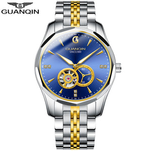 GUANQIN Men's 2020 Tungsten Steel, Automatic, Waterproof Business Sport Watch Distributed by Tourbillion