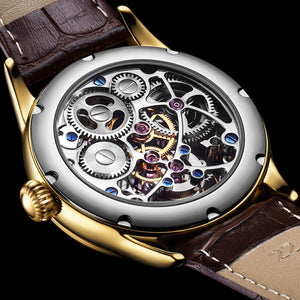 Guanqin/Tourbillon Men's 100% Top Brand Waterproof Sapphire Luxury Mechanical Clock Watch