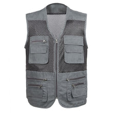 Load image into Gallery viewer, Men's Large Size Quick-Drying Breathable Multi-Pocket Sleeveless Mesh Work/Casual Wear Vest by Excellent Men