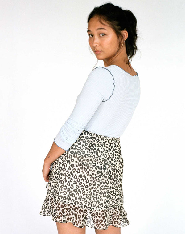 The Artemis Leopard Ruffle Skirt