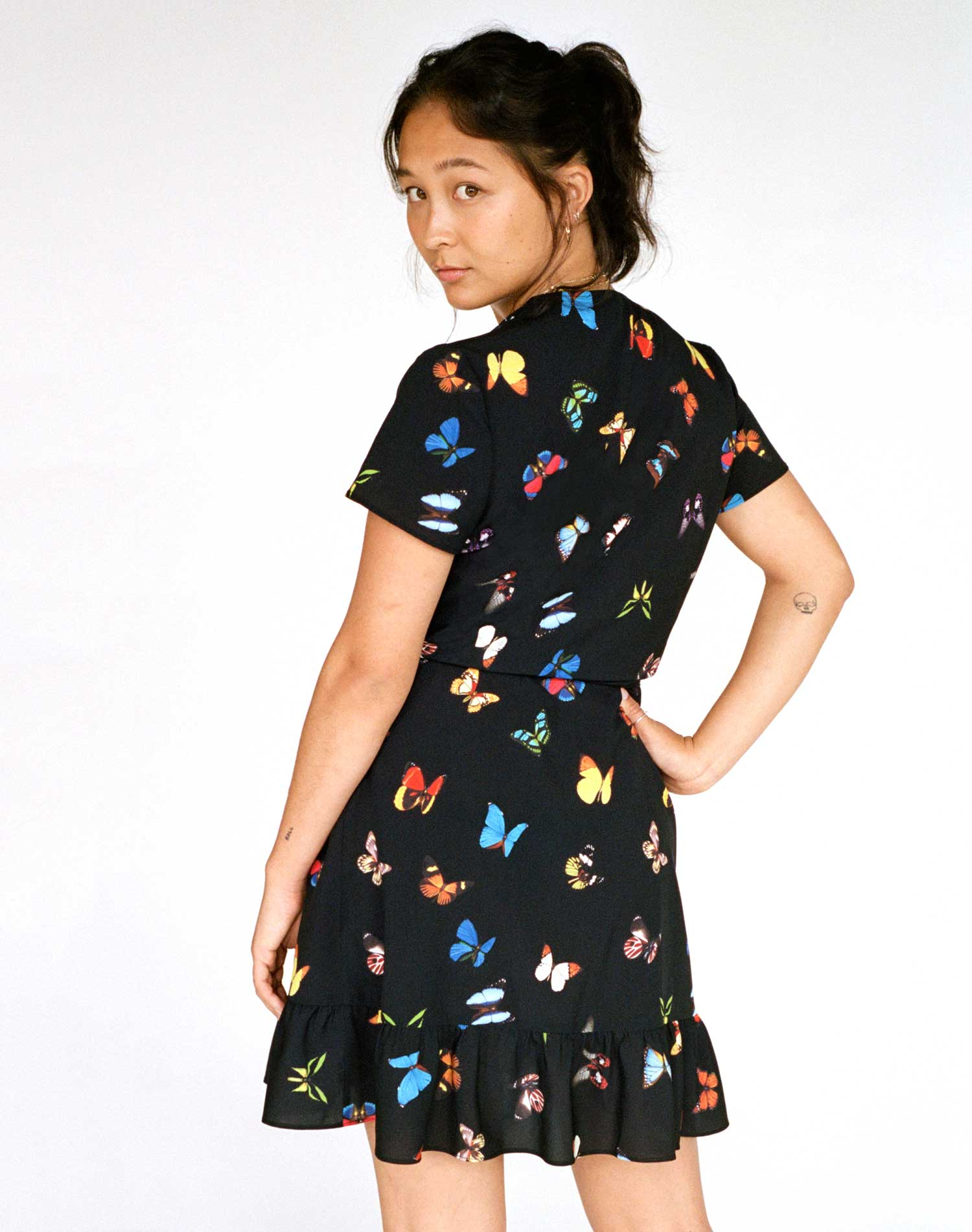 The Gaia Butterfly Wrap Dress