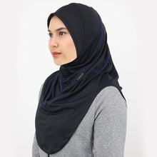 Load image into Gallery viewer, DAFEYA DYNA ACTIVE SPORT HIJAB - BLACK BLUE