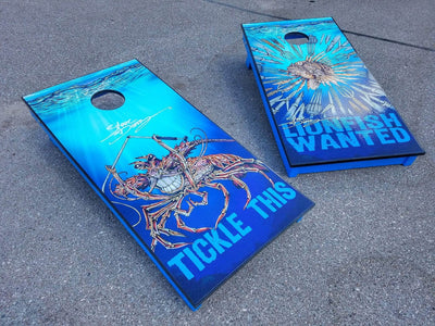 """Lionfish Wanted"" Premium Cornhole Board (1 board)"