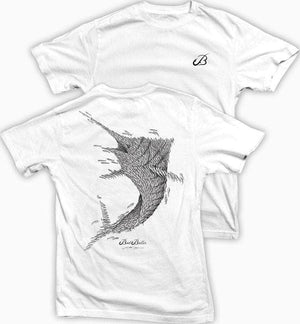 Bait Baller Marlin (white shirt) 100% combed ringspun cotton (MED ONLY)
