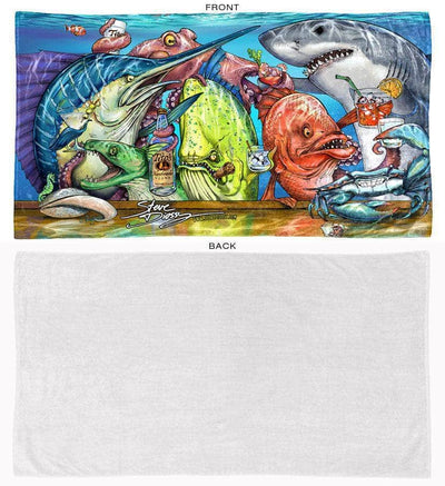 Tito's Cheers beach towel front and back
