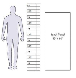 beach towel size scale