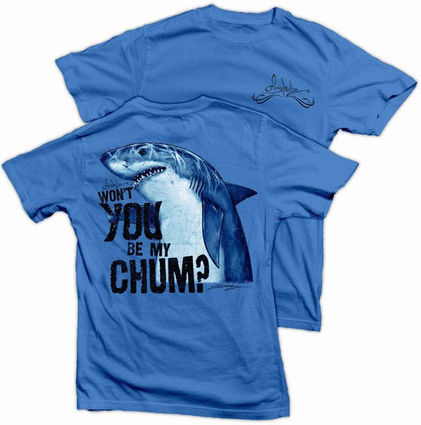Shark Chum- Color-Denim-100% combed ringspun Cotton (MED ONLY)