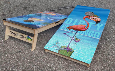 """Dirty Flamingo"" Premium Cornhole Board (1 board)"