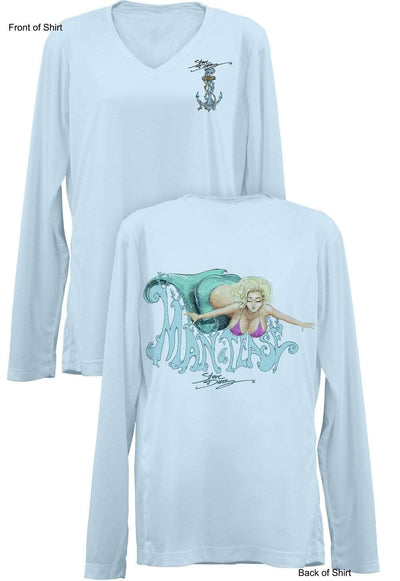 Man-A-Tease- Ladies Long Sleeve V-Neck-100% Polyester