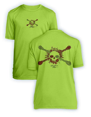 Bait Baller Jolly Roger Dive Flag- KIDS Short Sleeve Performance - 100% Polyester