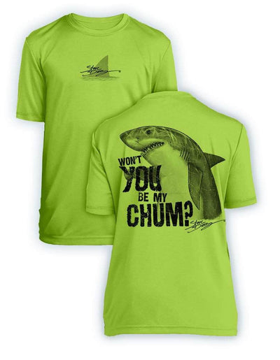 Shark Chum- KIDS Short Sleeve Performance - 100% Polyester