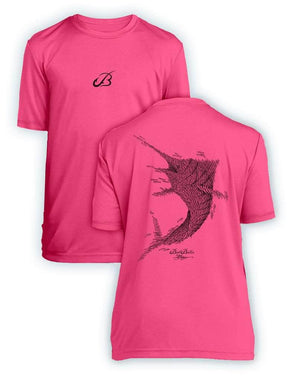 Bait Baller Marlin- KIDS Short Sleeve Performance - 100% Polyester
