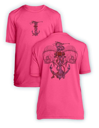 Mahi Anchor-Color- KIDS Short Sleeve Performance - 100% Polyester