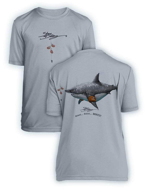 Donut Shark- KIDS Short Sleeve Performance - 100% Polyester
