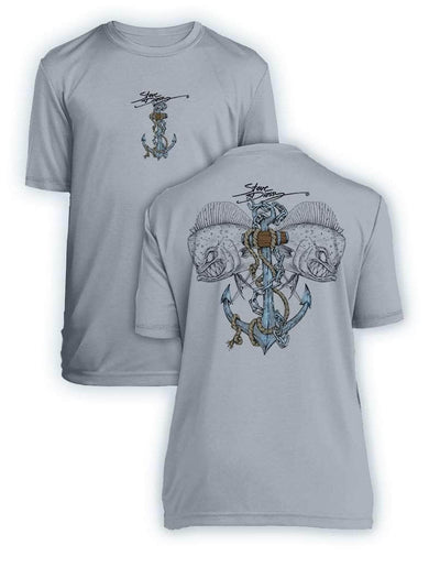 Mahi Anchor- KIDS Short Sleeve Performance - 100% Polyester