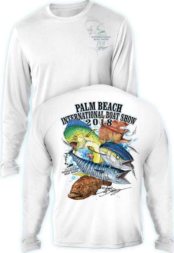 "PBIBS 2018 ""Grand Slam""  - UV Sun Protection Shirt - 100% Polyester - Long Sleeve UPF 30"