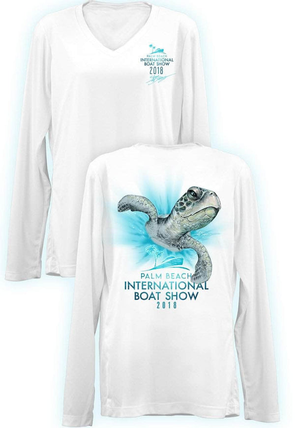 "PBIBS 2018 ""Turtle Zoom"" - Ladies Long Sleeve V-Neck - 100% Polyester"
