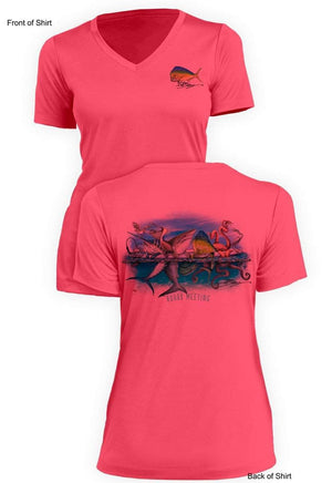 Board Meeting - Ladies Short Sleeve V-Neck-100% Polyester