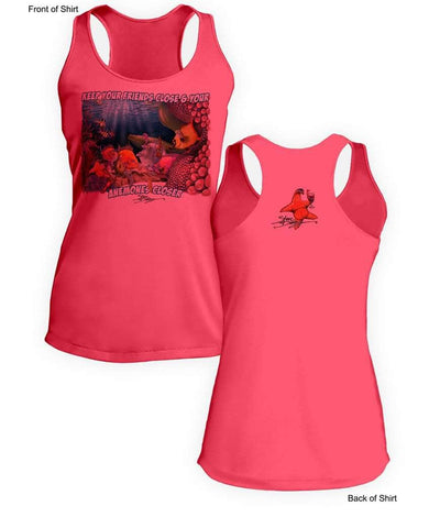 NEW! Anemones Closer- Ladies Racerback Tank-100% Polyester