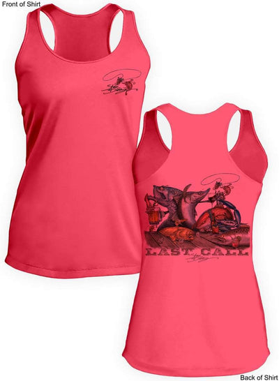 Last Call- Ladies Racerback Tank-100% Polyester
