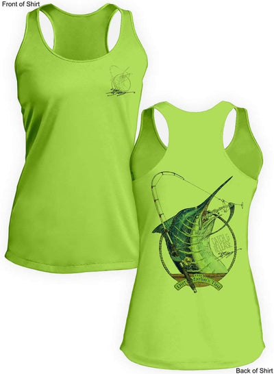 Dirty Marlin- Ladies Racerback Tank-100% Polyester