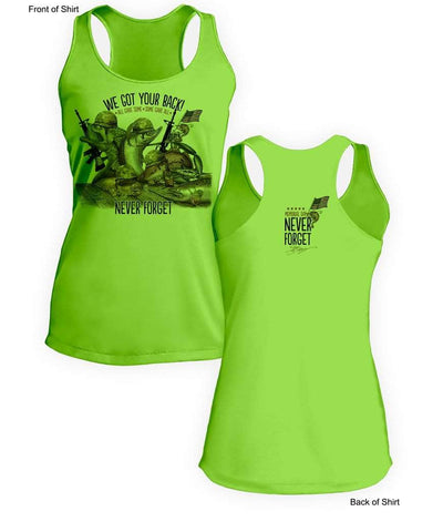 "Memorial Day ""Last Call""- Ladies Racerback Tank-100% Polyester"